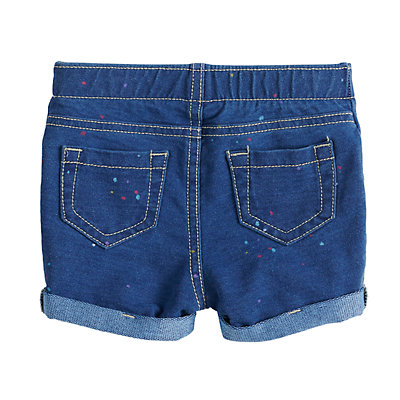 Baby Girl Jumping Beans® Splatter Cuffed Jegging Shorts