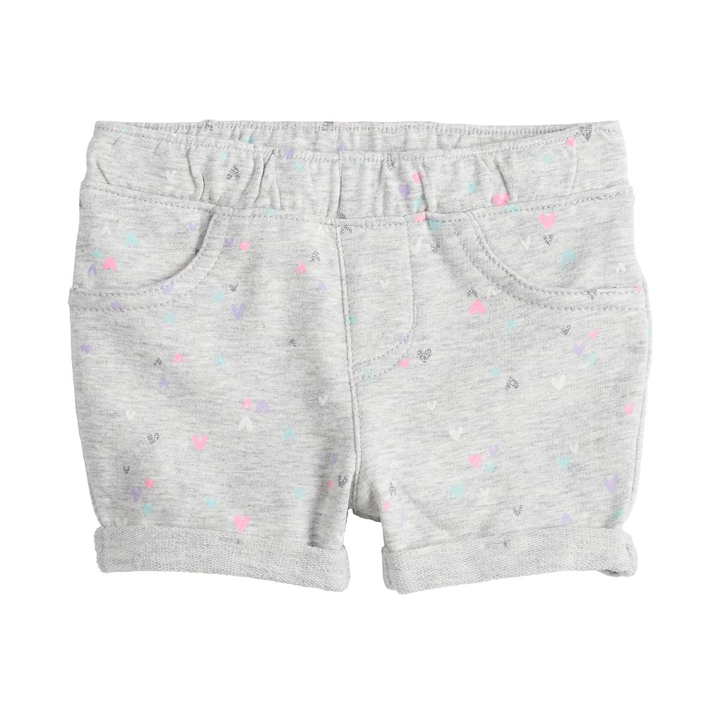 Baby Girl Jumping Beans® Printed Cuffed French Terry Shorts