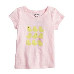 Baby Girl Jumping Beans® Slubbed Easter Graphic Tee