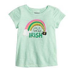 Baby Girl Jumping Beans® 'I'm A Wee Bit Irish' Glittery Graphic Tee