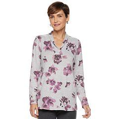 Women's Dana Buchman Print Shawl-Collar Tunic