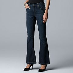 Women's Simply Vera Vera Wang Mid-Rise Bell Bottom Jeans