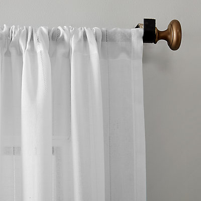 Clean Window Leno Weave Stripe Anti-Dust Window Curtain