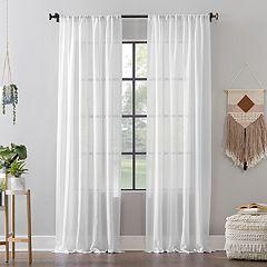 Clean Window Leno Weave Stripe Anti-Dust Window Curtain