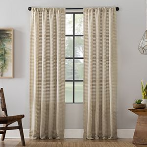 Clean Window Modern Check Pattern Anti-Dust Window Curtain
