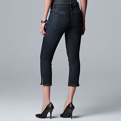 Women's Simply Vera Vera Wang Side-Slit Capri Jeans