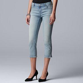 Women's Simply Vera Vera Wang Side-Slit Capri Jeans