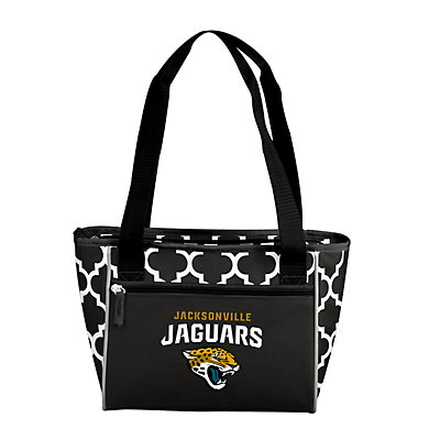 Jacksonville Jaguars Quatrefoil 16-Can Cooler Tote