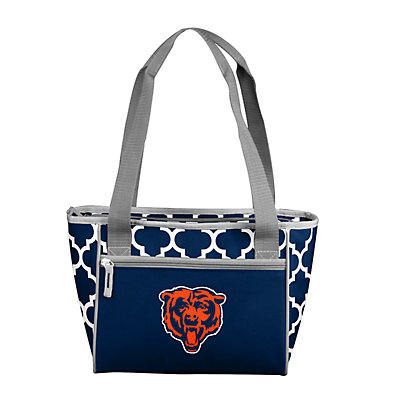 Chicago Bears Quatrefoil 16-Can Cooler Tote