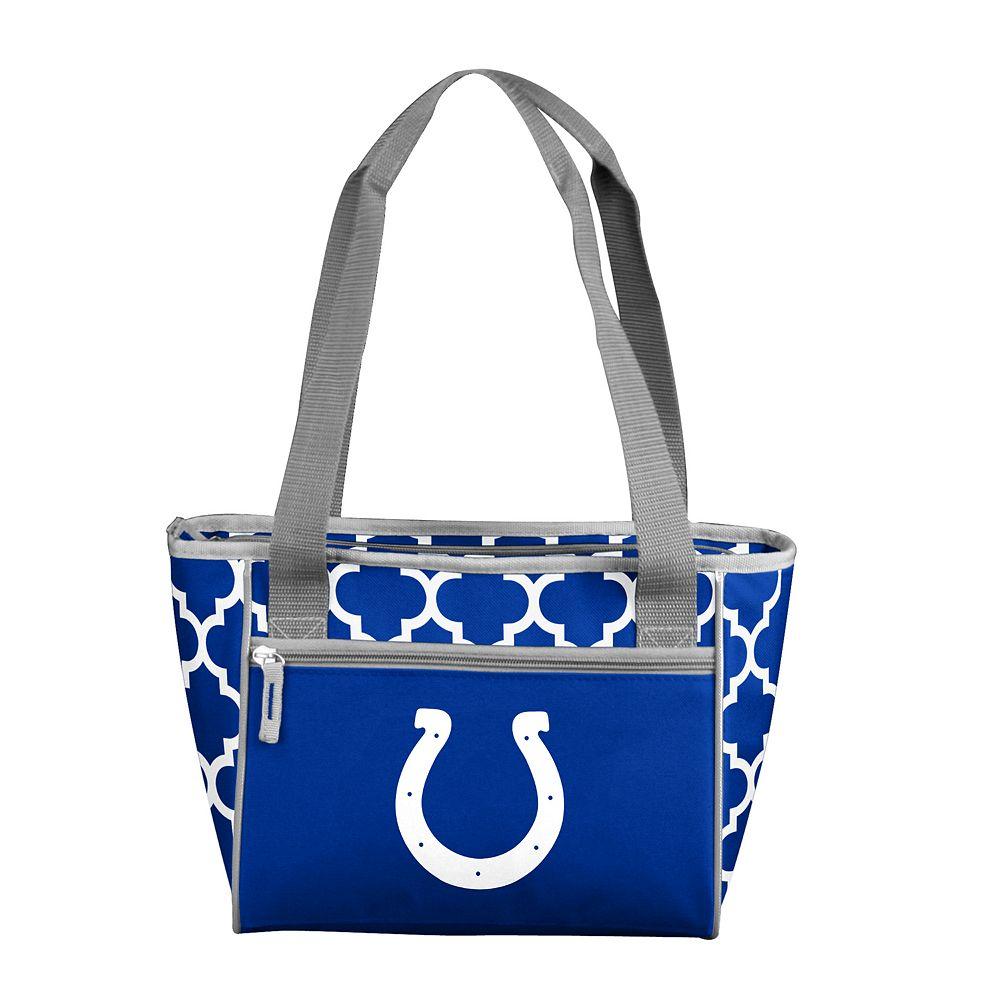 Indianapolis Colts Quatrefoil 16-Can Cooler Tote