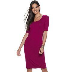 Women's Jennifer Lopez Sheath Midi Dress