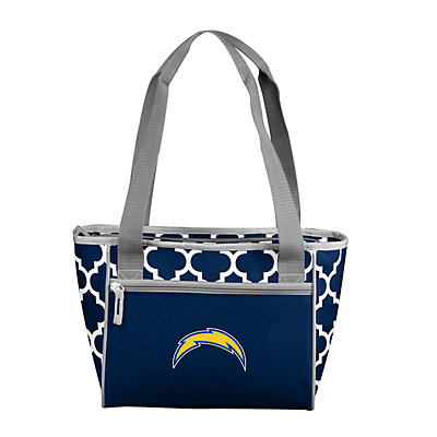 Los Angeles Chargers Quatrefoil 16-Can Cooler Tote