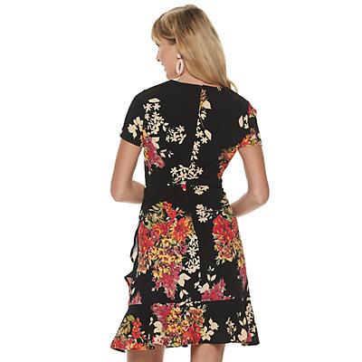 Women's Apt. 9 Floral Ruffle-Hem Dress