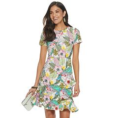 db569811 Women's Apt. 9® Floral Ruffle-Hem Dress