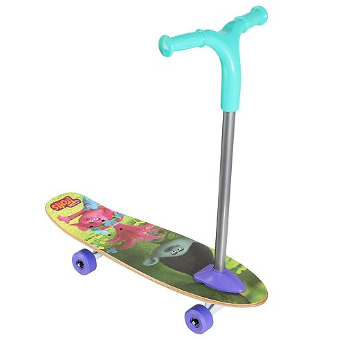 PlayWheels Trolls Scoot 2-in-1 Scooter and Skateboard