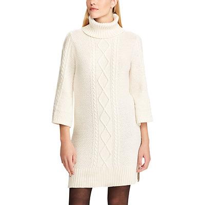 Women's Chaps Cable-Knit Turtleneck Sweater Dress