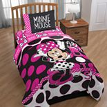 Disney's Minnie Mouse Dots Twin Comforter