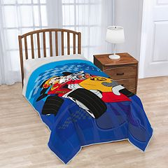 Disney's Mickey Mouse Clubhouse Roadster Racer Plush Twin Blanket