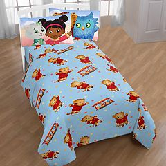 PBS Kids Daniel Tiger Tree House Pals Twin Sheet Set