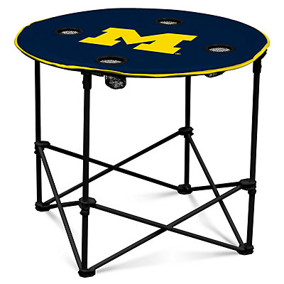 Michigan Wolverines Portable Round Table