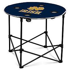 Notre Dame Fighting Irish Portable Round Table