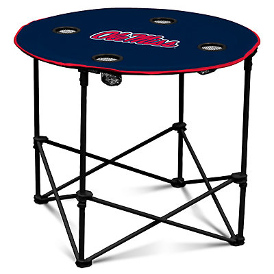 Ole Miss Rebels Portable Round Table