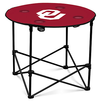 Oklahoma Sooners Portable Round Table
