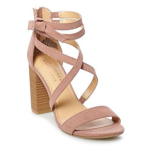 LC Lauren Conrad Walnut Women's High Heel Sandals