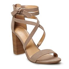 1968bc253c5b LC Lauren Conrad Walnut Women s High Heel Sandals. Blue Stripe Mauve Black  Mushroom