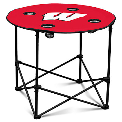 Wisconsin Badgers Portable Round Table