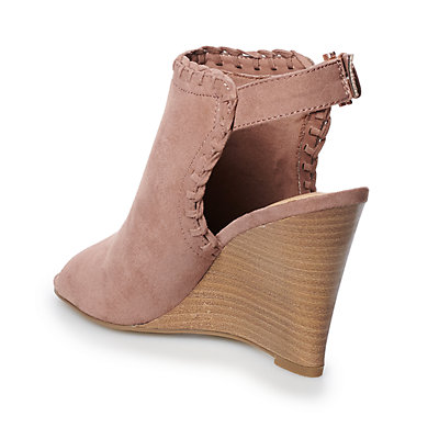 LC Lauren Conrad Mousse Women's Wedge Ankle Boots