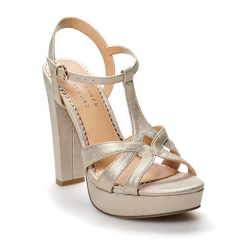 LC Lauren Conrad Chai Women's T-Strap High Heels