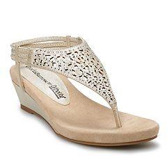 544c6ba7372a Croft   Barrow® Skyway Women s Wedge Sandals