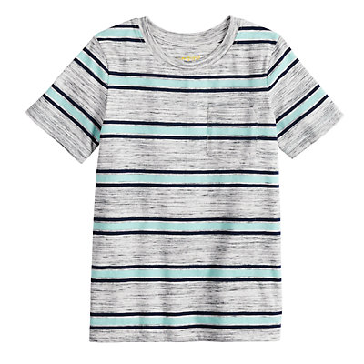 Boys 4-12 Jumping Beans® Wide Striped Pocket Tee