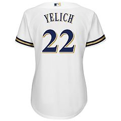 Women's Majestic Milwaukee Brewers Cool Base Yelich Jersey
