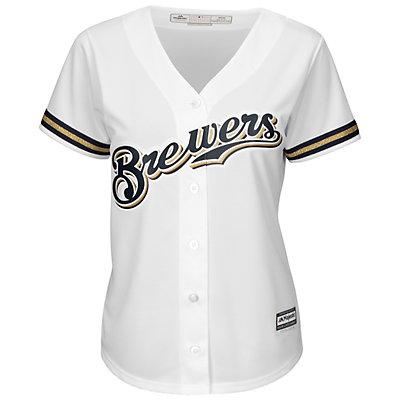 Women's Majestic Milwaukee Brewers Cool Base Yelich Jersey