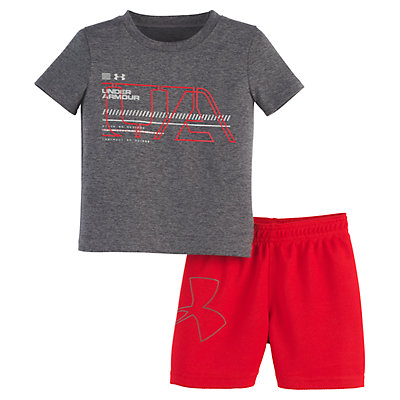 Baby Boy Under Armour Logo Tee & Shorts Set