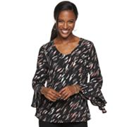 Women's Apt. 9® Tiered Ruffle Sleeve Top