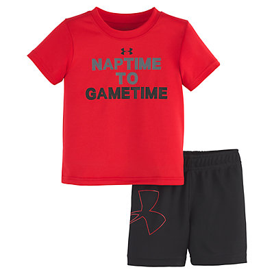 "Baby Boy Under Armour ""Naptime to Gametime"" Logo Tee & Shorts Set"