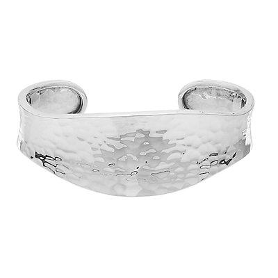 Sterling Silver Hammered Cuff Bracelet