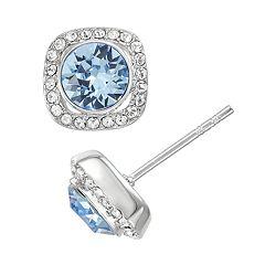 Brilliance Halo Stud Earrings with Swarovski Crystals
