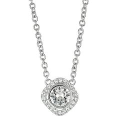 Brilliance Crystal Halo Pendant Necklace with Sawarovski Crystals