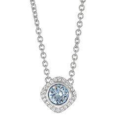 Brilliance Crystal Halo Pendant Necklace with Sawarovski Crystals