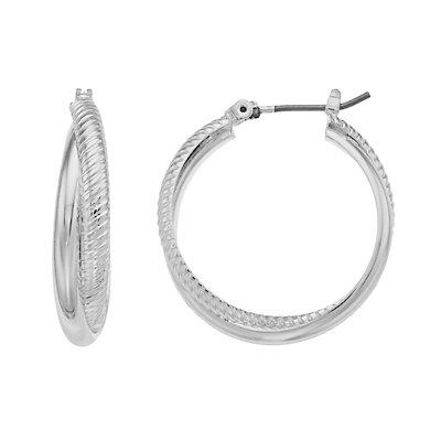 Dana Buchman Twisted Hoop Earrings