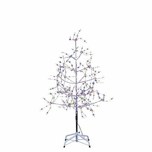 Kurt Adler 4 Ft Silver Bark Multi Colored Led Fairy Lights Tree
