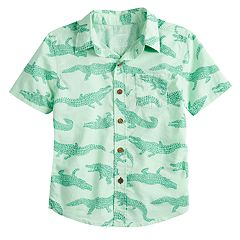 Boys 4-12 SONOMA Goods for Life™ Alligator Button Down Shirt
