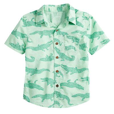Boys 4-12 SONOMA Goods for Life? Alligator Button Down Shirt