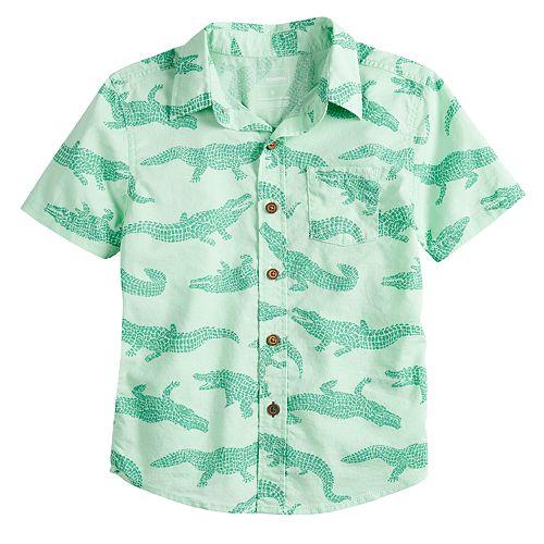 Boys 4-12 SONOMA Goods for Life® Alligator Button Down Shirt