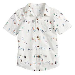 Boys 4-12 SONOMA Goods for Life™ Surfing Button Down Shirt