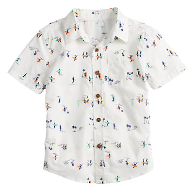Boys 4-12 SONOMA Goods for Life? Surfing Button Down Shirt